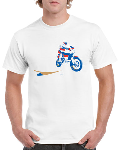 'Dakar Bike'  t-shirt - B&C white