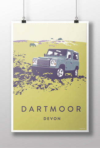 Defender 90 'Dartmoor' print