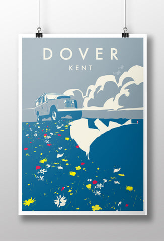 'Dover' print featuring a Land Rover Series 2