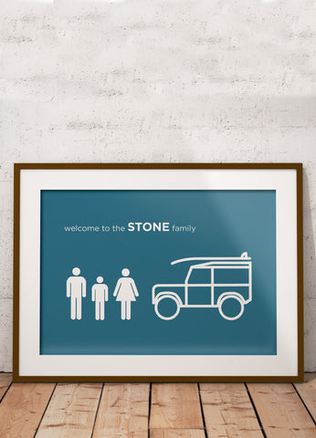 Personalised 'Family' print
