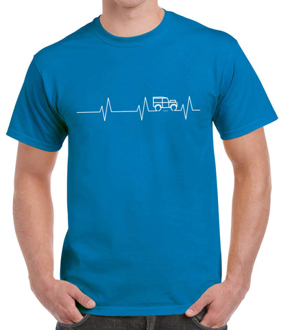 Series 'Heartbeat' t-shirt - Gildan Iris Blue