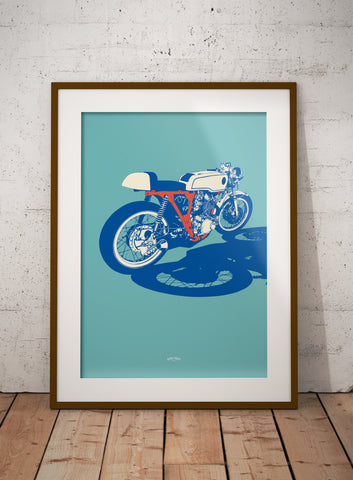 Classic Japanese Cafe Racer print