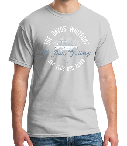 'Davos Whiteout' Range Rover Classic t-Shirt - Ice Grey