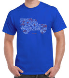 'Iconic Icon' Land Rover Series Defender t-shirt - royal blue