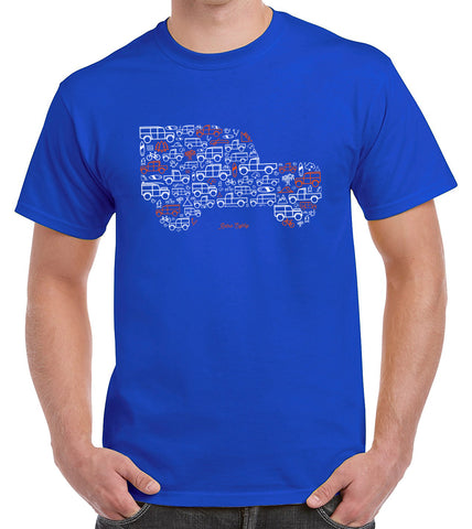 'Iconic Icon'  t-shirt - royal blue