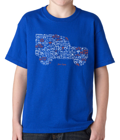 kids 'Iconic Icon' Land Rover Series Defender t-shirt - royal blue
