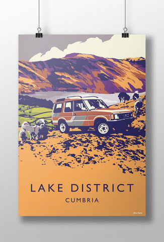 Disco 'Lake District' print