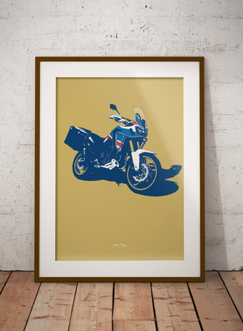 Paris Dakar Motorcycle print