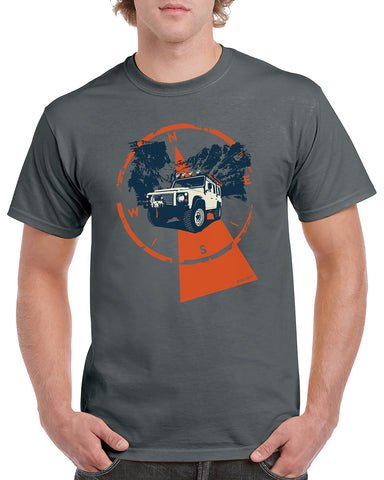 'Ready for Overland Adventure' t-shirt - B&C Dark Grey