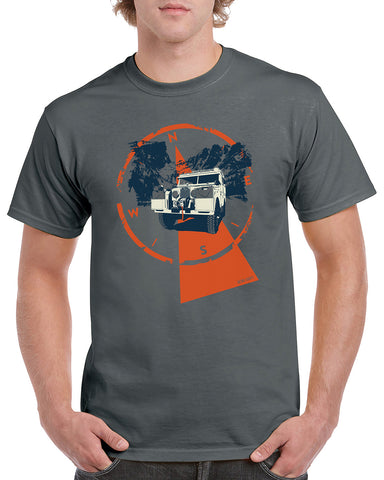 'Series One Overland Adventure'  t-shirt - Dark Grey