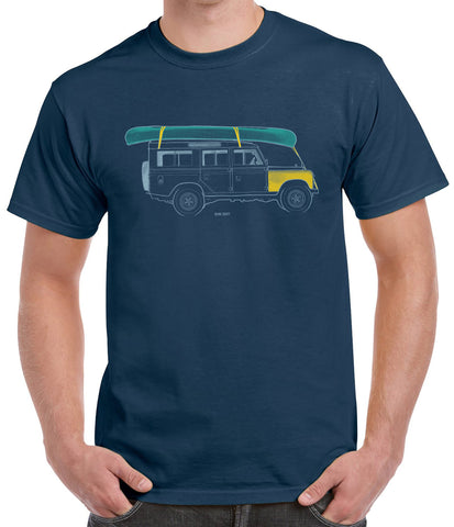 'One hundred and nine'' Land Rover Series  t-shirt - Blue Dusk