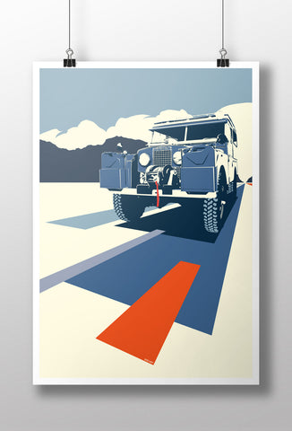 'Overland Express' Land Rover Series 1 print