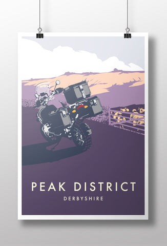 Adventure Expedition Motorcycle 'Peak District' print