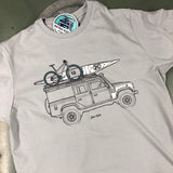 'Ready for Adventure'- t-shirt - B&C Light Grey