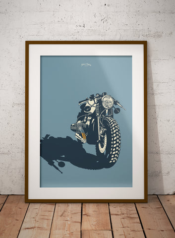Retro Style Cafe Racer print