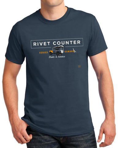 'Rivet Counter' Land Rover Series t-Shirt - Blue Dusk