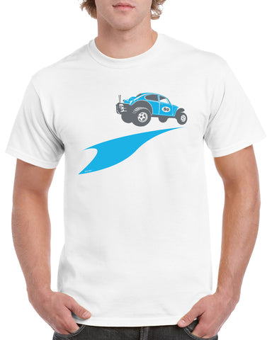 'Baja Bug'  t-shirt - B&C white