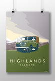 'Highlands' print featuring a Land Rover Series 1 80""
