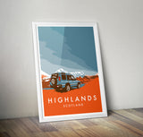 'Highlands' Disco D2 print