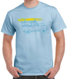 Series 2/3 'Surf Club' t-shirt - B&C Light Blue
