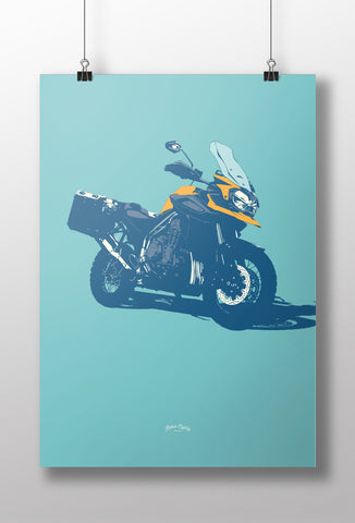 Britsh Adventure Motorcycle print