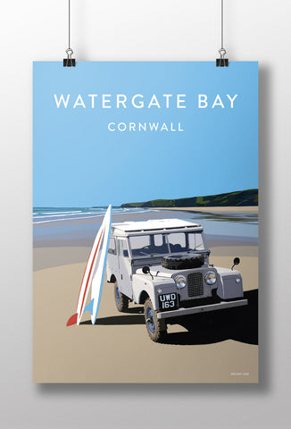 Series 1 'Watergate Bay' print