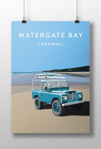 Series 3 'Watergate Bay' print