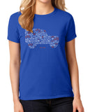Womens 'Iconic Icon' t-shirt - royal blue