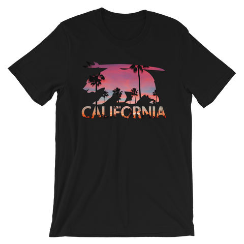 CA Surf Bear unisex short sleeve t-shirt