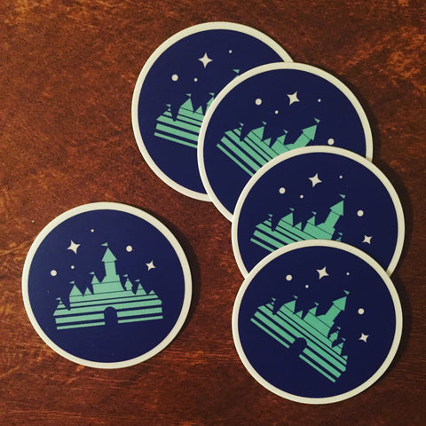 "Magic Castle 2"" round sticker"