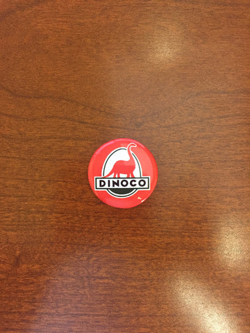 Dinoco Red pin-back button