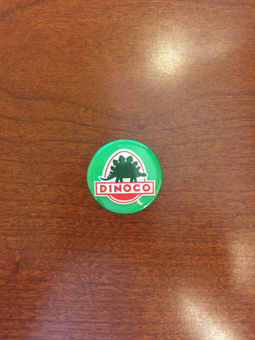 Dinoco Green pin-back button
