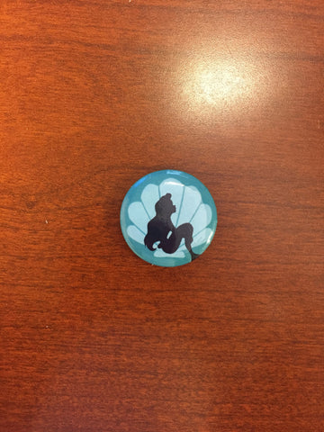 Little Mermaid pin-back button