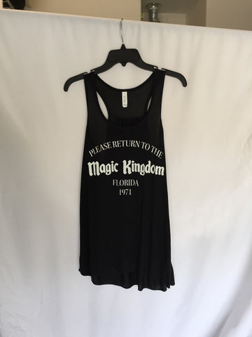 Return to the Magic Kingdom women's flowy tank top