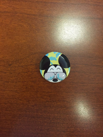 California Dreamin' Mickey pin-back button