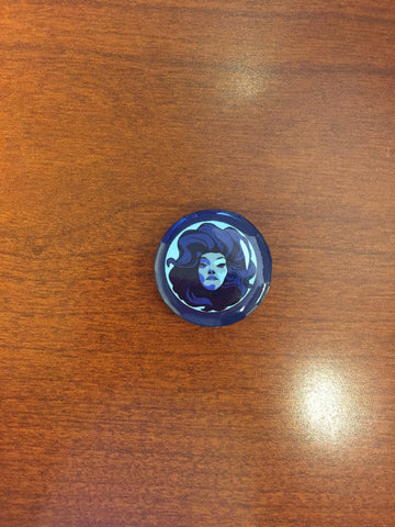 Madame Leota pin-back button