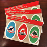 Dinoco Motor Oil Set sticker sheet