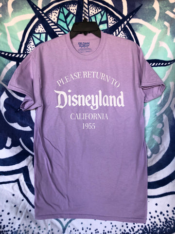 Return to Disneyland *unisex* LAVENDER short sleeve t-shirt