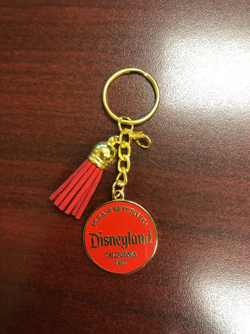Return to Disneyland RED Deluxe Keychain *CLEARANCE*