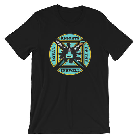 Knights of the Inkwell unisex short sleeve t-shirt