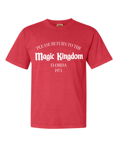 Return to the Magic Kingdom *unisex* PRIVATE LABEL short sleeve t-shirt