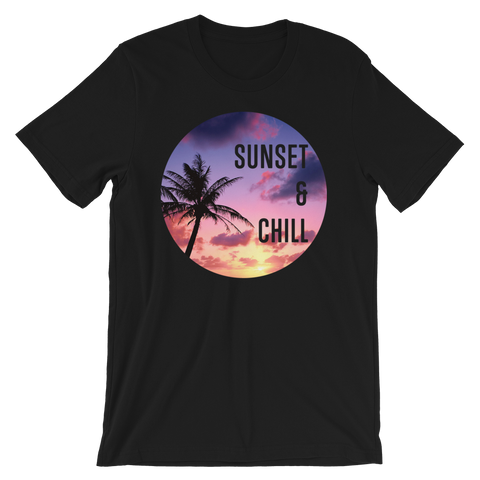 Sunset & Chill unisex short sleeve t-shirt