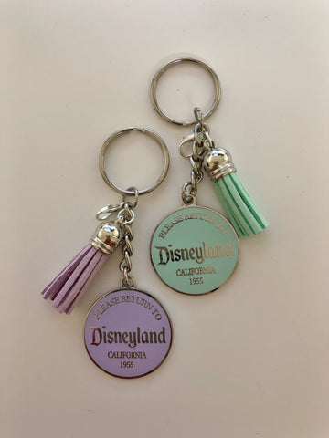 Return to Disneyland SILVER METAL Deluxe Keychain