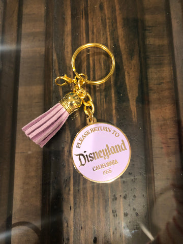 Return to Disneyland LAVENDER Deluxe Keychain