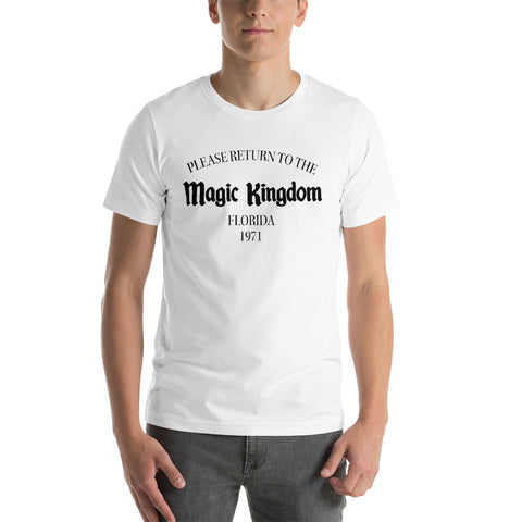 Return to the Magic Kingdom unisex short sleeve t-shirt