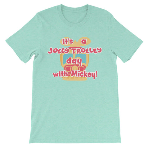 Jolly Trolley Day! unisex short sleeve t-shirt