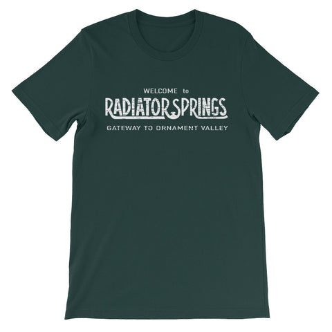 Radiator Springs Welcome unisex short sleeve t-shirt