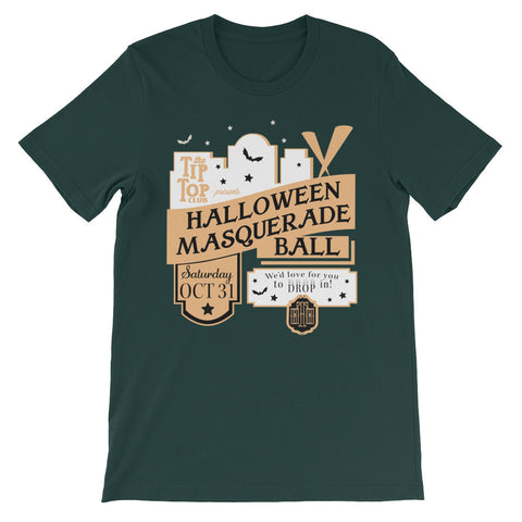 Tip Top Club Halloween Masquerade unisex short sleeve t-shirt