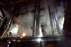 evaporator top vents and steam
