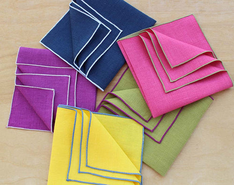 Linen Pocket Squares, Fresh from our Studio Today!